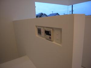 整理された住宅設備のリモコン