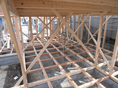 足立区S邸の木造床組