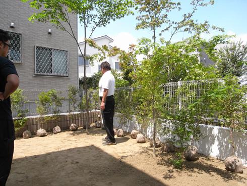 モミジ とトキワマンサクを植樹。緑豊かな外構 | 川口の白い家