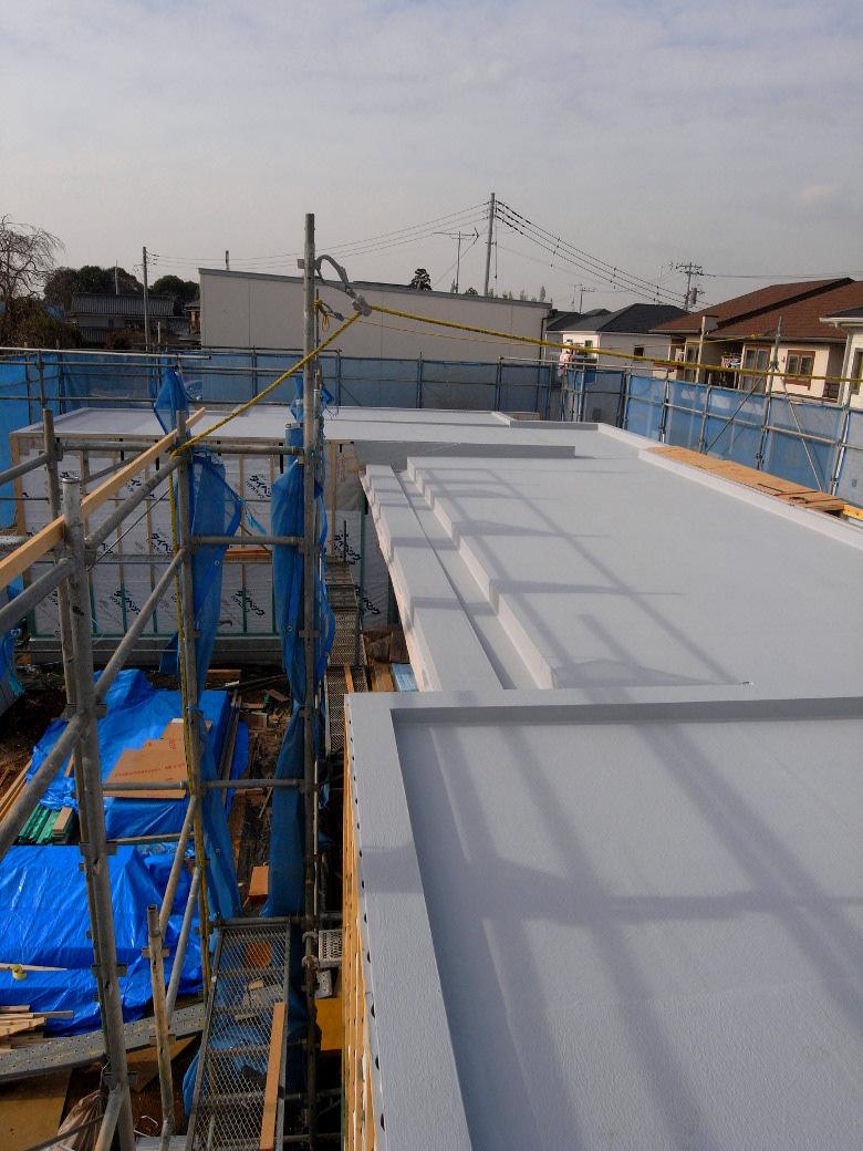 屋根防水 が完了。これで悪天候でも安心です | ゆめみ野の家