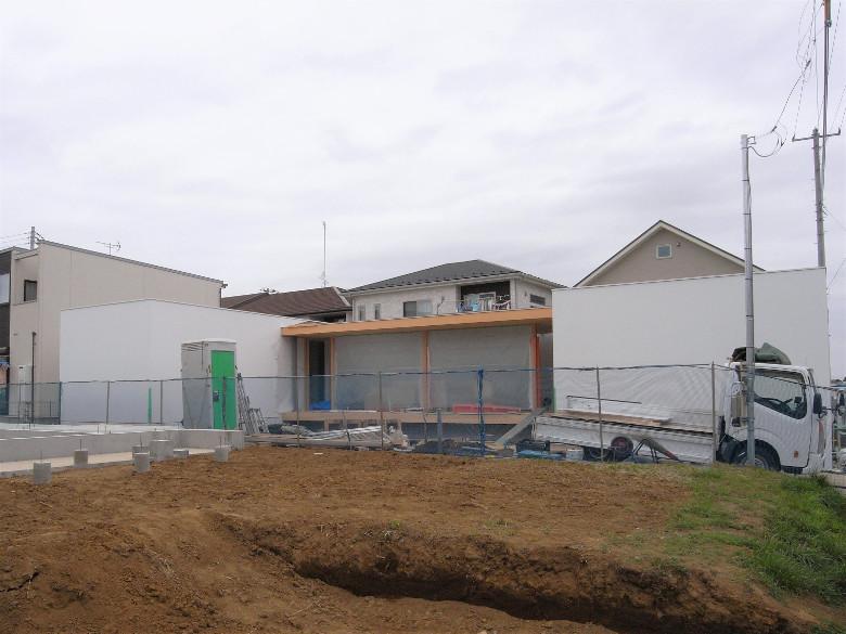 ゆめみ野の家の工事中外観