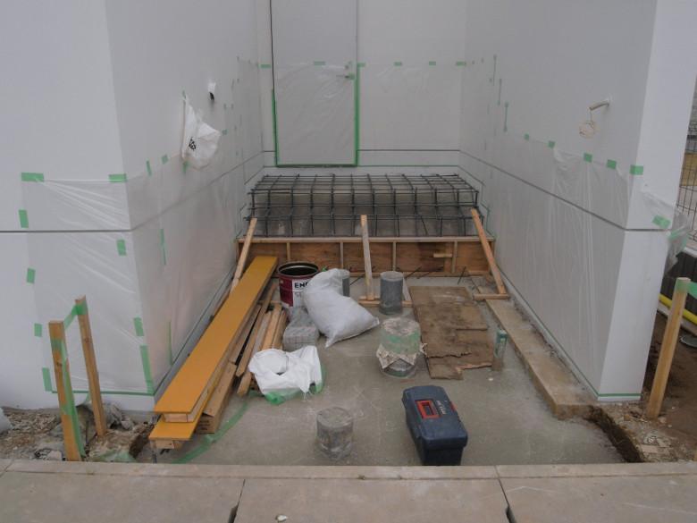 玄関ポーチのコンクリート打設段取り