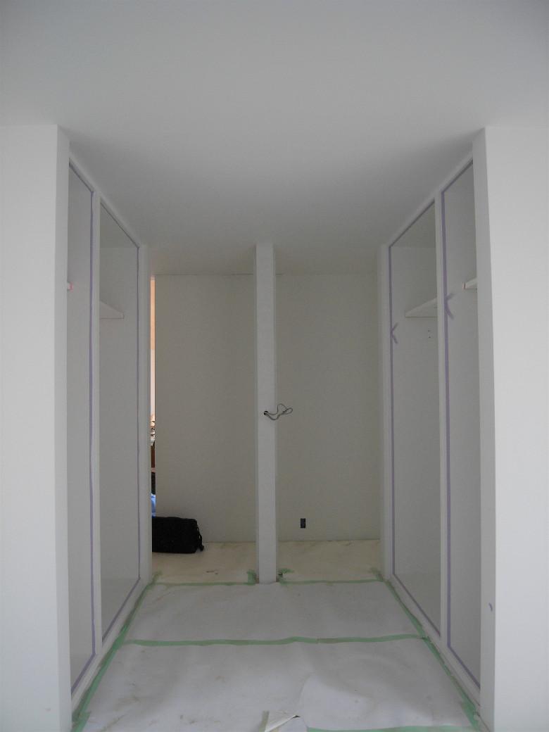 子供部屋及びクローゼットの塗装完了